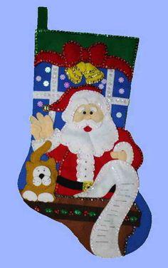 Bota de Papá Noel con lista de regalos