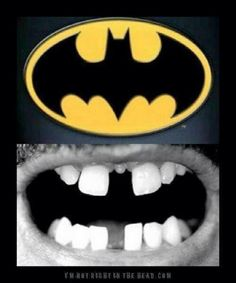 Bad dentistry or bat signal you decide