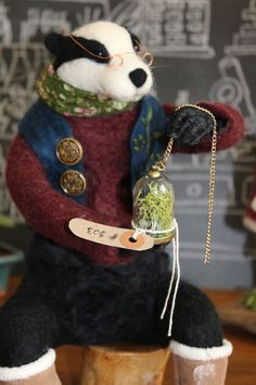Mr Moss Needle Felted OOAK Artdoll by OkieFolky on Etsy