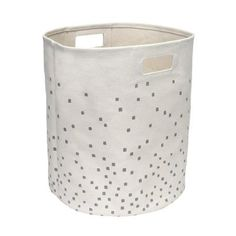 HOM Home Eseence Canvas Confetti Laundry Basket