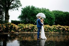 Rainy but beautiful french wedding