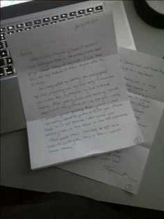 A letter on my door step. portraits are more thanpaper.