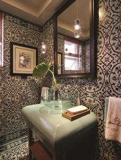 Cement tiles is used on the floor, wall and ceiling. The border is used between the wall and floor joints to provide a boundary and transition.