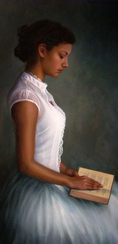 woman reading - Poetry by Christina Ramos. 18x36