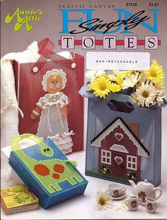 Simply Fun Totes Plastic Canvas Pattern Book Annie's Attic 87K28 by grammysyarngarden on Etsy
