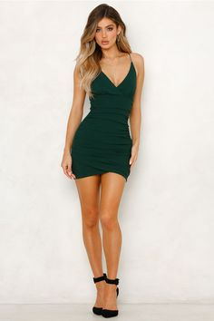 Hadley Dress Green Source by Kleider Women's Fashion Dresses, Dress Outfits, Casual Dresses, Clubbing Dresses, Short Tight Dresses, Green Homecoming Dresses, Short Green Dress, Short Black Dresses, Sexy Green Dress
