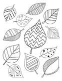 Expressive Monkey's free leaf coloring page.