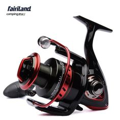 Fairiland Camping | MS-ZWD 3000-4000 10BB 4.8:1 Front Drag Fishing Spinning Reel Black/Red