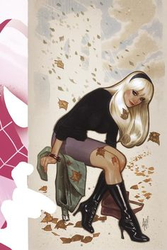 Spider Gwen #1 cover by Adam Hughes