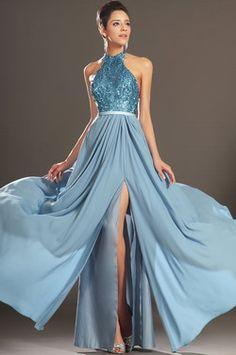 eDressit New Gorgeous Halter High Split Evening Dress (00130132) - EUR 109.99