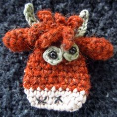 Toffee the Heilan Coo by Sew Silly Lily #crochet #arugumi