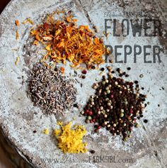 Flower Pepepr - candula, nasturtium, lavendar, lemon zest