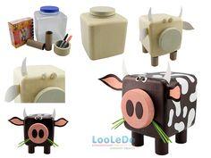 Faça Você Mesmo - Boizinho de brinquedo com material reciclado