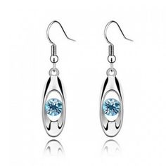 Modern Blue Gem Earrings