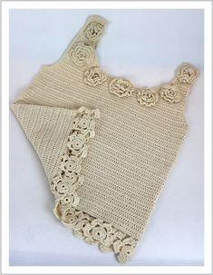 Veja a blusa de crochê que a Cláudia fez! Receita aqui!