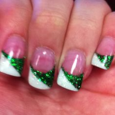 My St. Patrick's Day nails.