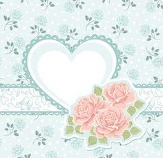 Fond bleu romantique