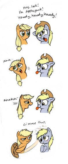 Applejack and Derpy as Woody and That Shark Toy (from the toy bin in Andy's room)