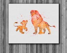 Simba and Mufasa ♡  https://www.etsy.com/listing/213167337/simba-and-mufasa-disney-the-lion-king
