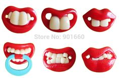 1pc Funny Dummy Pacifier Novelty Teeth Moustache Baby Child Soother Random