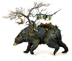 A Menagerie of Animals Covered in Surreal Landscapes of Flora and Fauna by Ellen Jewett | Colossal