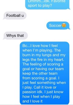Only soccer players will understand<<<true!