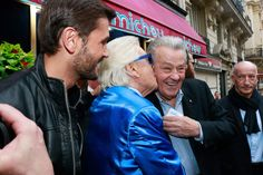 Christophe Beaugrand, Michou et Alain Delon