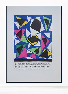 (1) Henri Matisse Vintage Print - Original Lithograph 1959 – Art & Vintage Store Ltd Example Of Abstract, Wall Art Prints, Poster Prints, Raoul Dufy, Georges Braque, Marc Chagall, Exhibition Poster, Expositions, Sign Printing