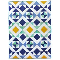 Nordic Triangles Quilt Pattern (Suzy Quilts)
