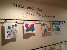 Kids' art gallery wall!