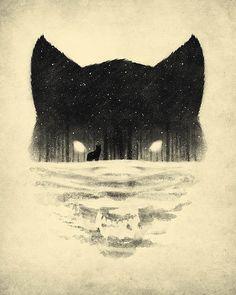 Wolfy Art Print by DB Art | Society6