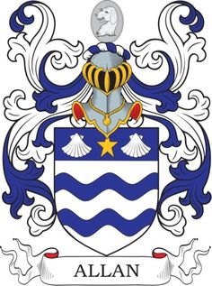 Allan Family Crest and Coat of Arms