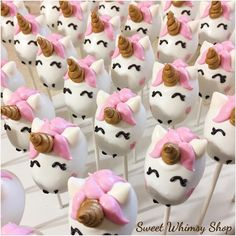 Unicorn Cake Pops by Sweet Whimsy Shop www.sweetwhimsyshop.com