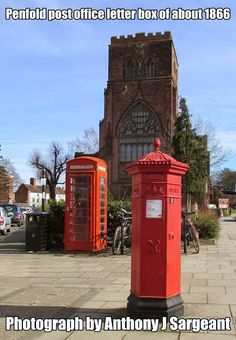 Here is a rare thing . a survivor . a hexagonal General Post Office (GPO) letter box designed by J. Penfold still in use outside The Abbey in Shrewsbury on Abbey Foregate. It was cast by Cochrane Grove and Co in about General Post Office, Telephone Booth, Post Box, Retail Shop, Landscape Photographers, Box Design, Photographs, Letter, Boxes