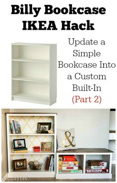 Billy Bookcase IKEA Hack Part 2