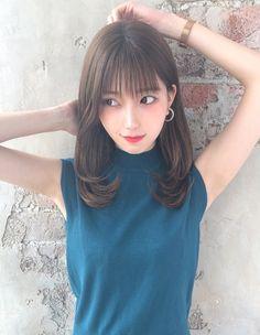 Cute Japanese, Japanese Beauty, Asian Beauty, Medium Straight Haircut, Petty Girl, Kawaii Faces, Japan Girl, Medium Hair Styles, Hair Goals