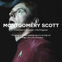 Image about cute in Tv Show, Movies 📽 by océ on We Heart It - montgomery scott and star trek Bild - Film Star Trek, Star Trek 2009, New Star Trek, Star Trek Movies, Star Wars, Montgomery Scott, Reboot Movie, Star Trek Reboot, Simon Pegg