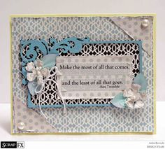 card created by Anita Bownds ScrapFX - Art Nouveau Frame C Large Model: 2013228 #fancypantsdesigns