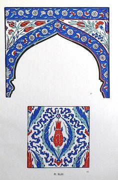 Vintage Turkish Tile Design c. 1940s 9 1/4 x 13 от TheBlueTwig