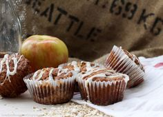 Copycat Costco Apple Streusel Muffins - with Crunchy Oat Bottom & Maple Cinnamon Glaze
