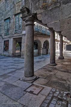 Rincón del casco antiguo de Pontevedra. Hice una ruta... estuvo bien. Os lo recomiendo (por cierto, la gente no es tan simpática como en Tenerife... :()