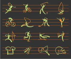 A collection of 150 sport icons in very unique style. Lots of sports and sport…