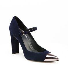{blue suede shoes/maryjanes} *CAPSIZE | by Stuart Weitzman