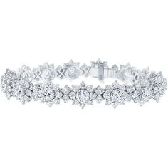 Sunflower by Harry Winston, Large Diamond Bracelet ❤ liked on Polyvore featuring jewelry, bracelets, accessories, harry winston, diamond bangle, diamond jewellery, harry winston jewelry and sunflower jewelry