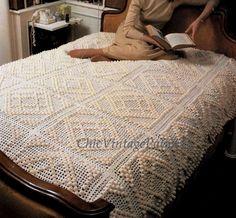 Crochet Bobble Bedspread ... PDF Crochet por ChicVintagePatterns