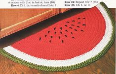 Watermelon Mats Crochet Patterns Rug Place Mat Annies - Home Decor www.bonanza.com