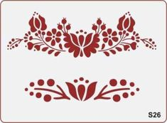 "Képtalálat a következőre: ""stencil sablon"" Tambour Embroidery, Hungarian Embroidery, Embroidery Art, Cross Stitch Embroidery, Embroidery Designs, Stencil Patterns, Applique Patterns, Stencil Diy, Stencils"