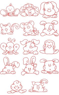 14 puppy Embroidery Designs