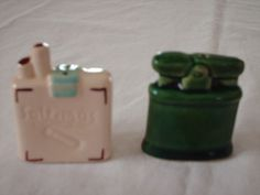 Vintage Go with Cigarettes and Lighter Salt and Pepper Shakers s P   eBay