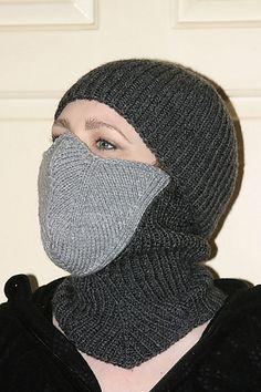 Ravelry: Ninja Mask – Winter Balaclava pattern by Kate Quinn http://www.ravelry.com/patterns/library/ninja-mask---winter-balaclava